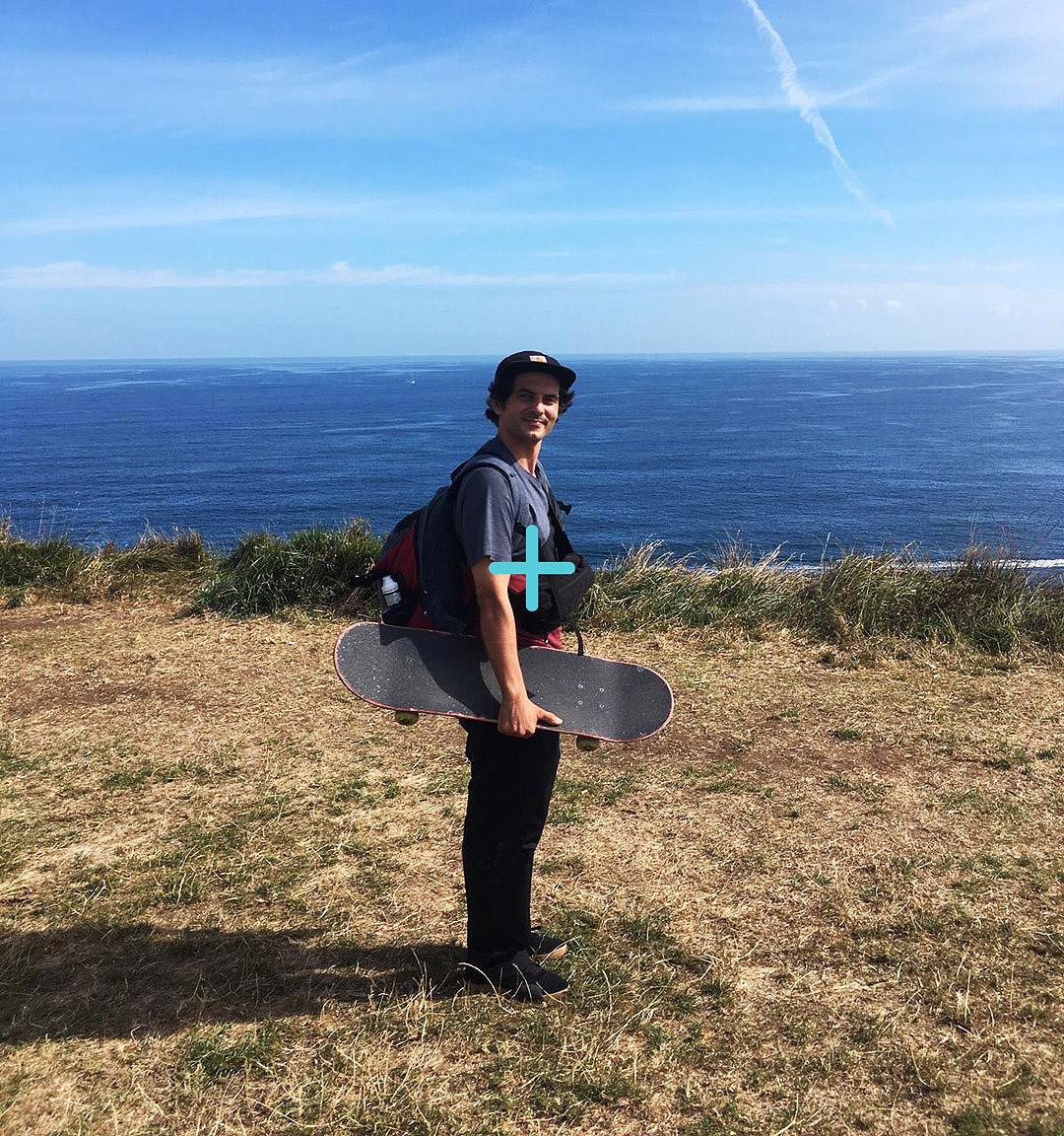 Marcos Fazzani monitor de skate panorama retrato